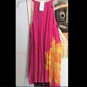 100% SILK Express pink  dress, NWT, new